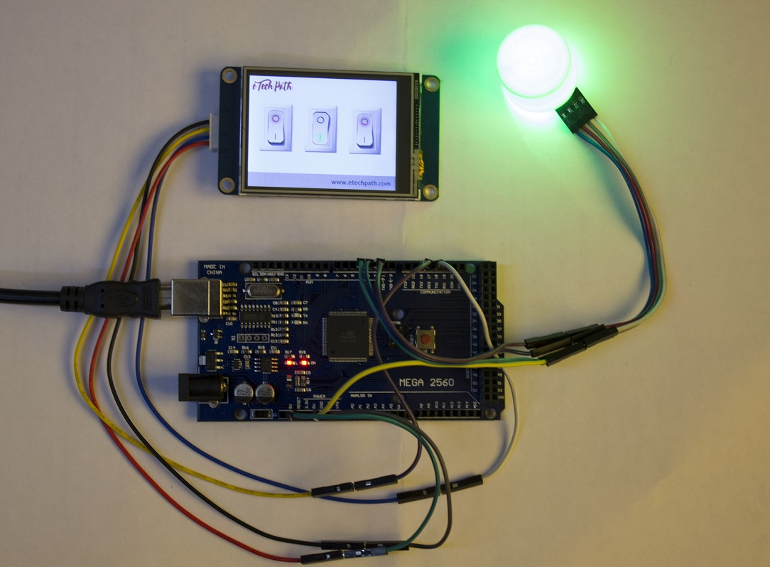 How to interface Nextion HMI with Arduino Mega2560 and learn